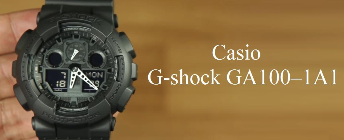 Recenze hodinek Casio G-shock GA100–1A1