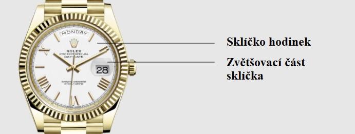 Sklíčko chrání ciferník hodinek