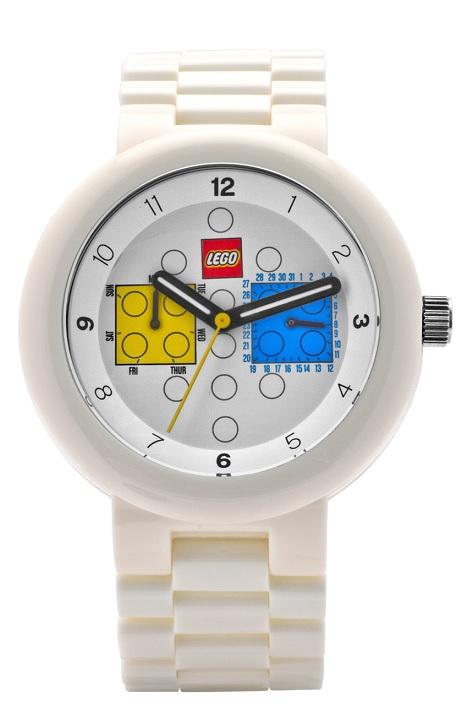 Zajímavé bílé hodinky LEGO