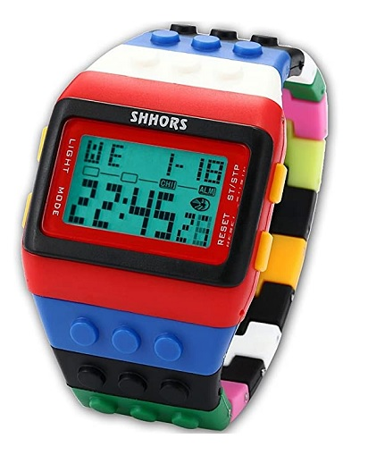 A jedny zajímavé hodinky v designu LEGO