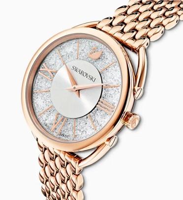 Zlaté hodinky s kamínky Swarovski