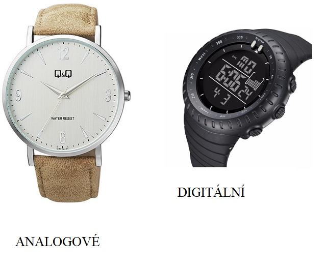 Rozdíl mezi analogovými a digitálními hodinkami