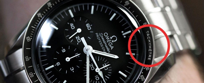 Tachymetr (tachymeter) v hodinkách