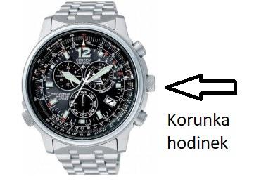 Korunka hodinek bývá obvykle na pravé straně pouzdra hodinek