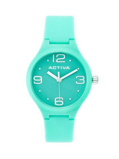 Analogové hodinky pro ženy či dívky - zelené