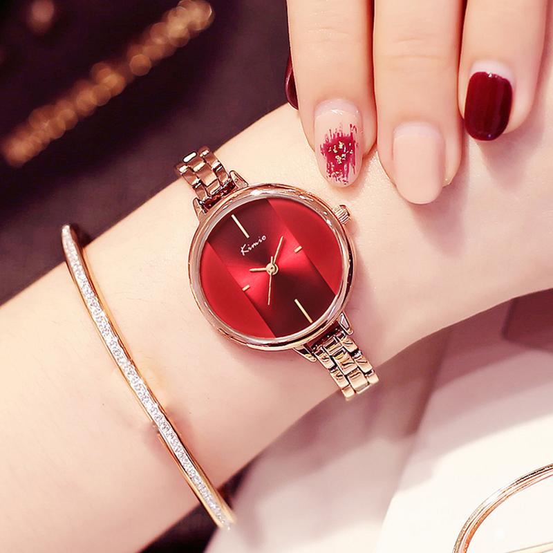 Dámské červené hodinky