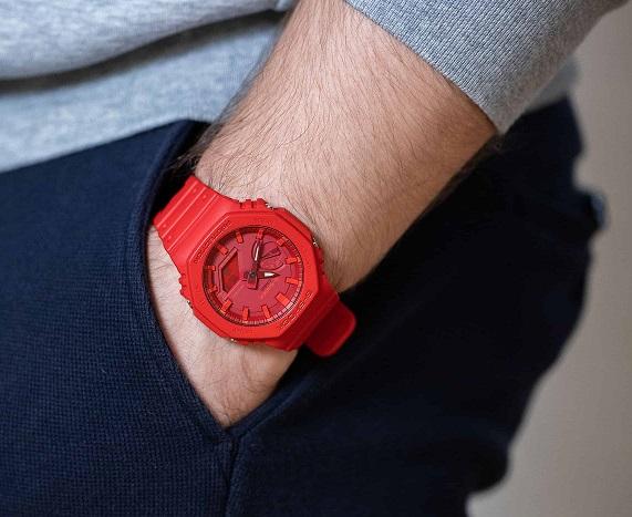Pánské červené hodinky G-Shock-GA2100-4A-13