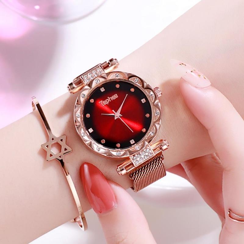 Elegantní červené hodinky pro ženy