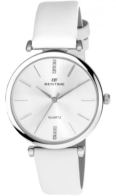 Dámské analogové hodinky v bílé barvě značky Bentime