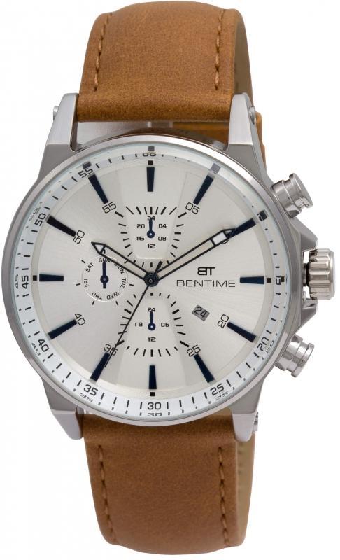 Pánské bílé analogové hodinky Bentime