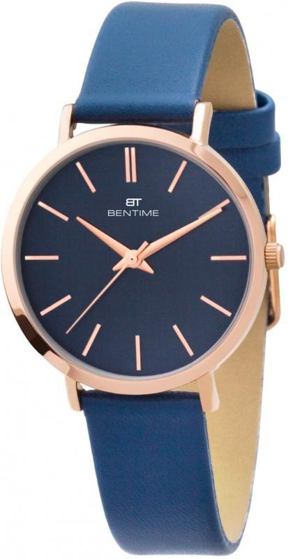 Dámské modré analogové hodinky Bentime