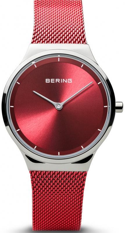 Červené hodinky pro ženy Bering