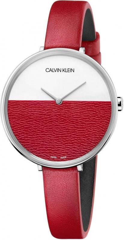 Dámské červené hodinky Calvin Klein