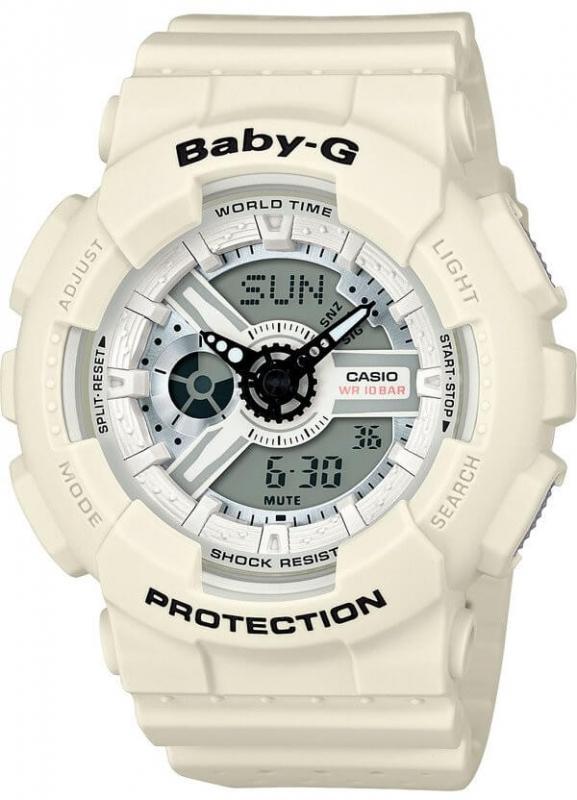 Dámské bílé hodinky Casio BABY-G BA 110PP-7A