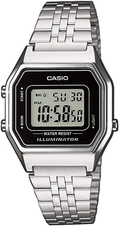 Pánské stříbrné digitální hodinky Casio Collection LA 680A-1