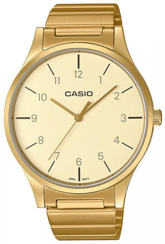 Pánské zlaté hodinky Casio Collection LTP-E140GG-9BEF