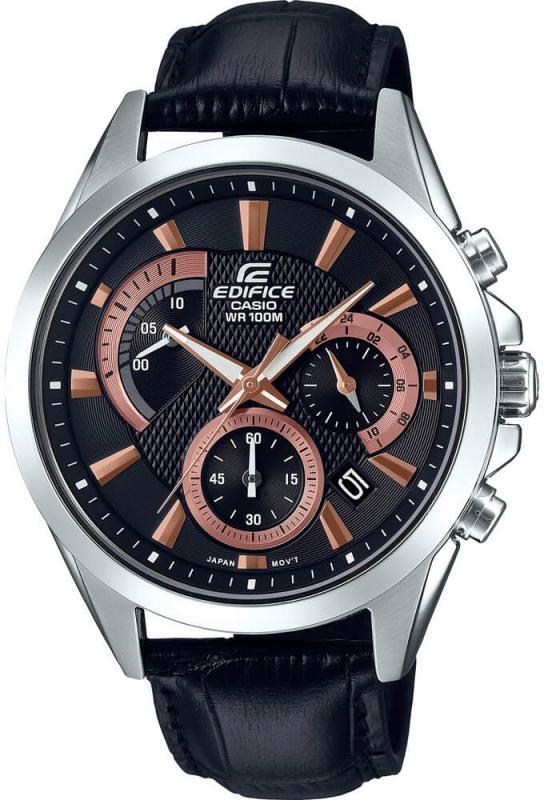 Pánské černé hodinky Casio Edifice EFV-580L-1AVUEF