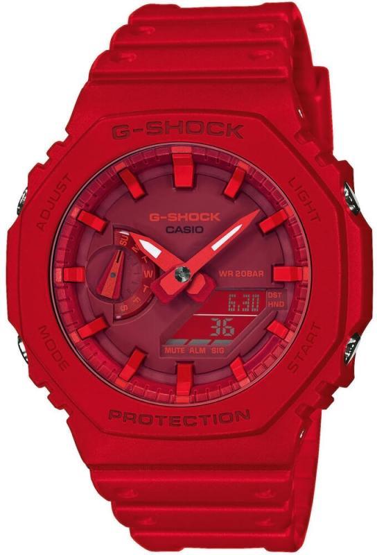 Červené hodinky pro muže Casio G-Shock Original Carbon Core Guard