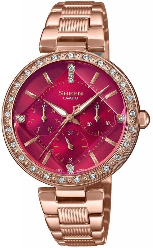 Červené hodinky pro ženy značky Casio