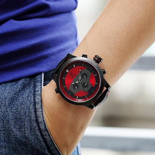 Pánské červené hodinky