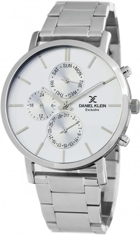 Pánské stříbrné hodinky Daniel Klein Exclusive DK11516-1