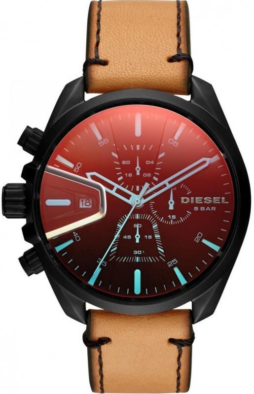 Pánské hodinky Diesel MS9 Chrono DZ4471 s červeným displayem