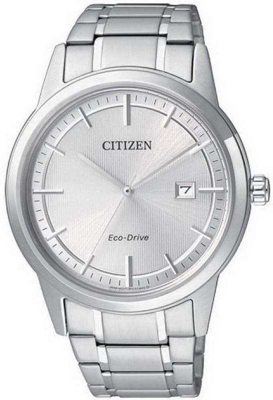 Pánské stříbrné analogové hodinky Citizen Eco-Drive Ring AW1231-58A
