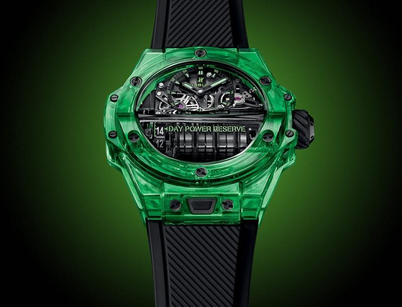 emerald green hublot big bang mp 11 saxem