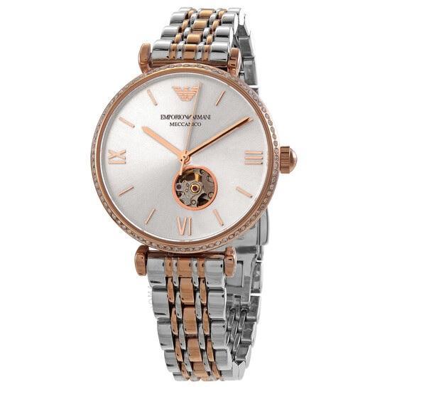hodinky Emporio Armani - zlatý design