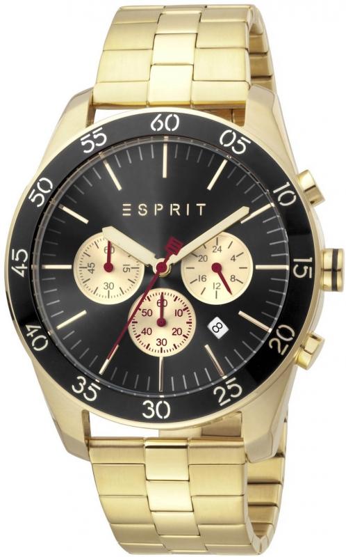 Pánské zlaté hodinky Esprit Falco ES1G204M0095