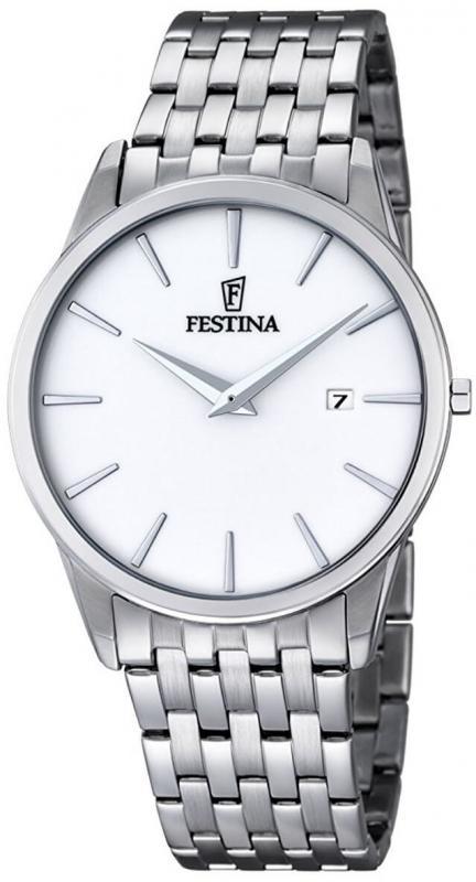 Bílé pánské hodinky Festina Klasik 6833/1 SLIM