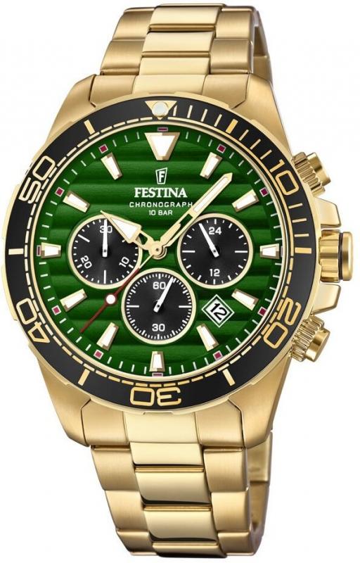 Pánské zlaté hodinky Festina Prestige 20364/4