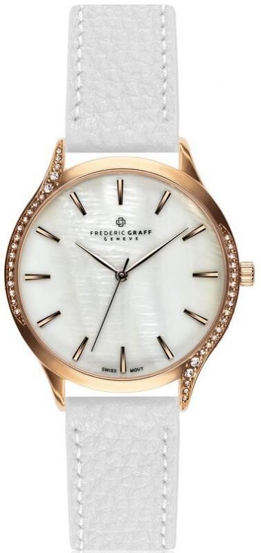 Dámské bílé hodinky Frederic Graff Basodino