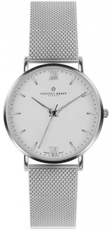 Pánské bílé hodinky Frederic Graff