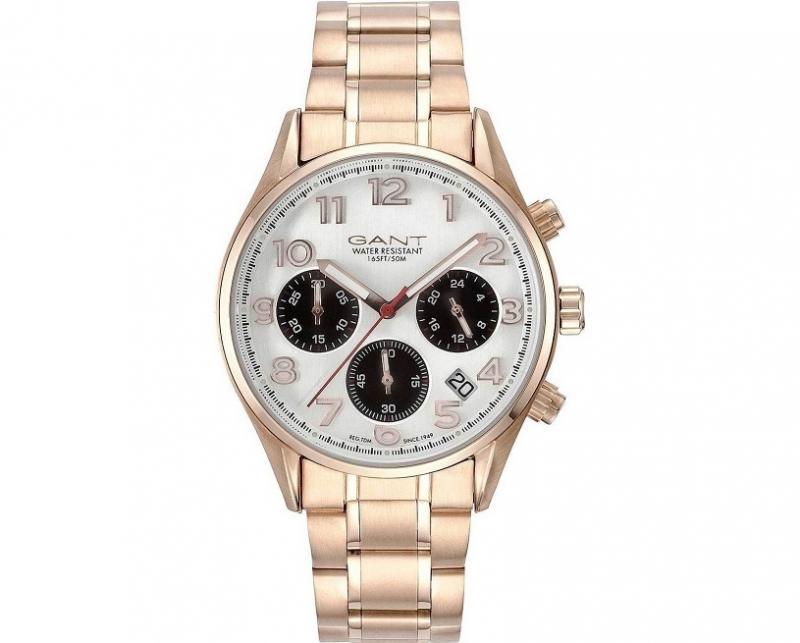 Pánské zlaté hodinky Gant Blue Hill GT008003