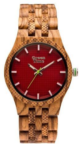 Hodinky s červeným ciferníkem Green Time Basic Bora Bora ZW114C