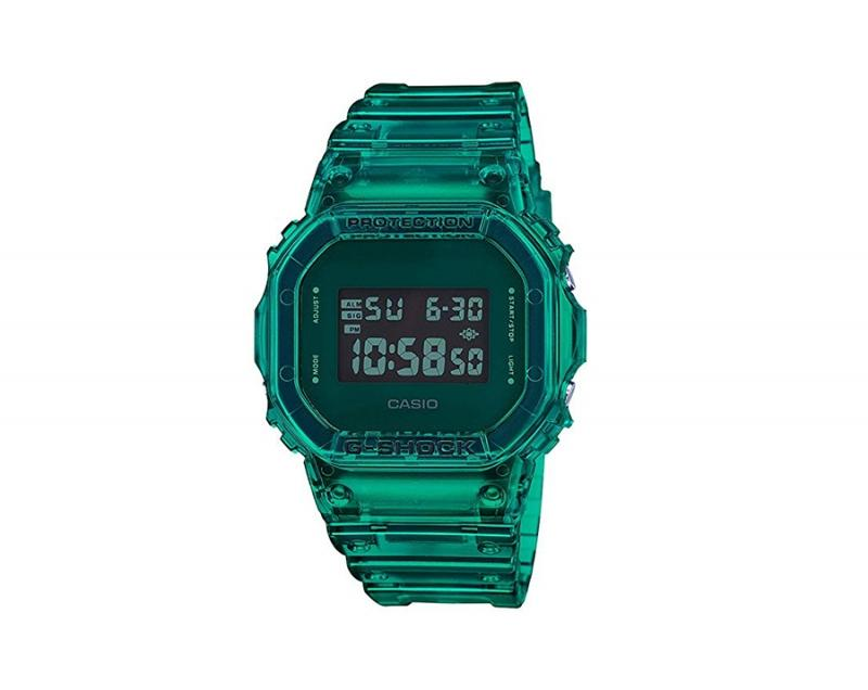 green casio g shock skeleton series
