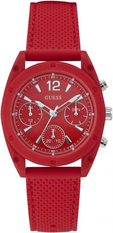 Dámské červené hodinky Guess