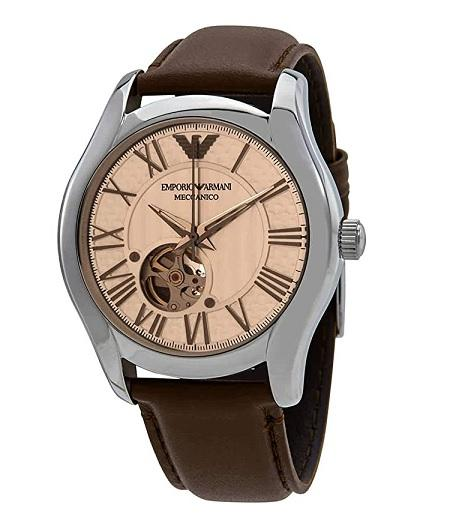 Hnědé hodinky Emporio Armani