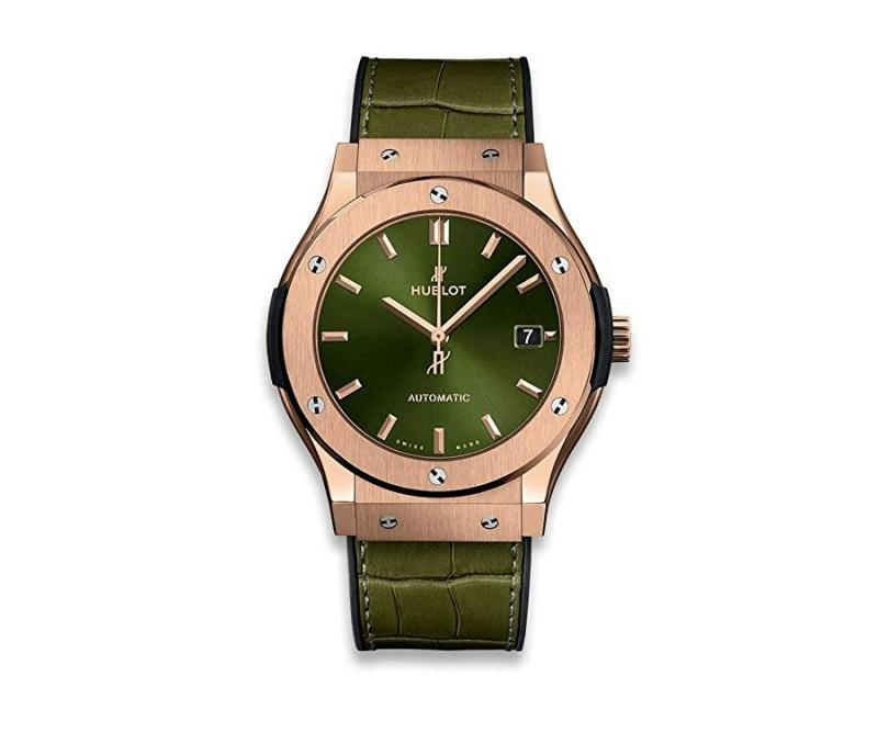 hublot classic fusion rose gold and olive green
