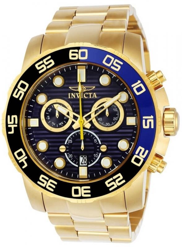 Pánské zlaté hodinky Invicta Pro Diver SCUBA Men 21555