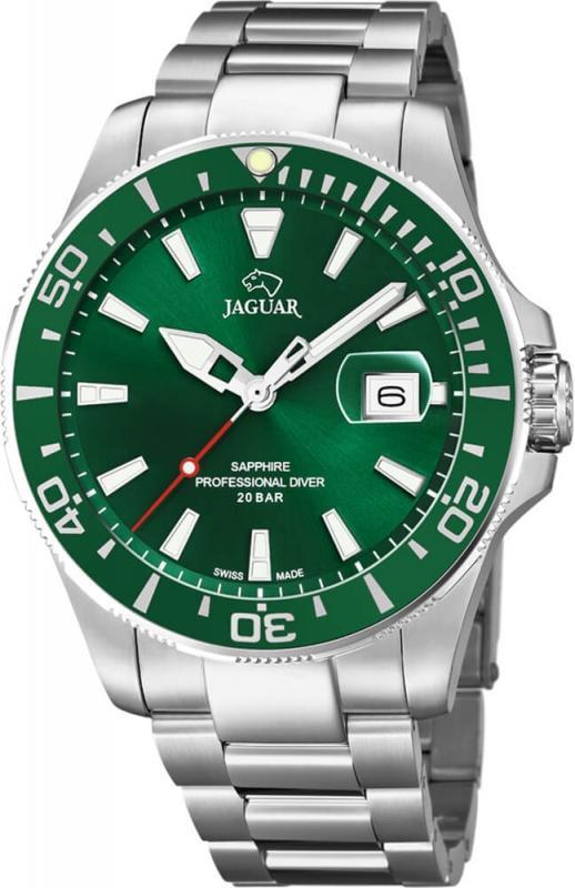 Krásné zelené hodinky Jaguar Exucutive Diver