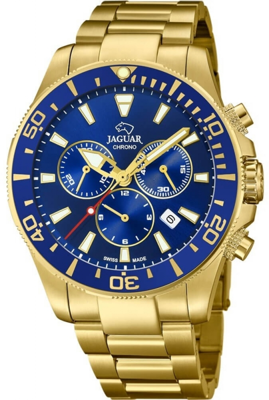 Pánské zlaté hodinky Jaguar Exucutive Diver J864/2