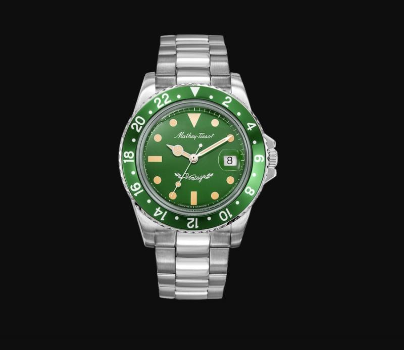 mathey tissot mathey vintage automatic green dial