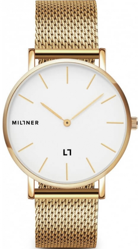 Zlaté dámské hodinky Millner Mayfair Gold 39 mm