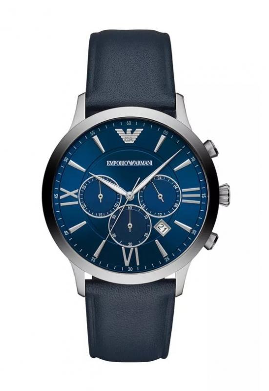 Modré hodinky Emporio Armani