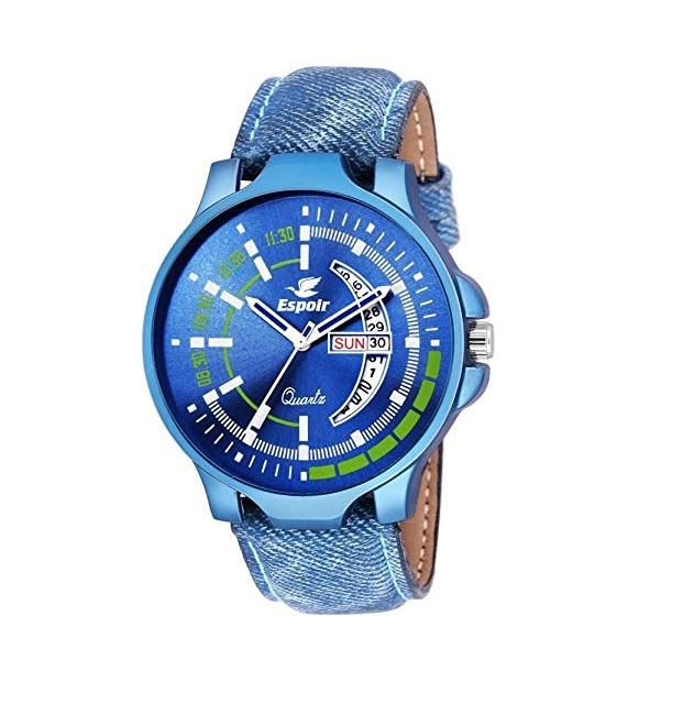 Modré analogové hodinky Espoir