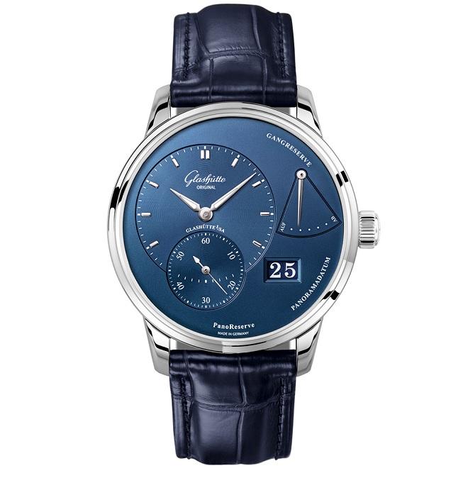 Modré pánské hodinky Glasshutte