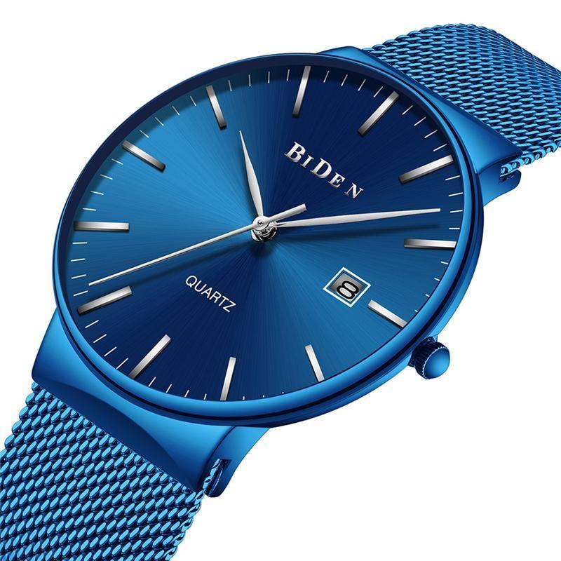 Modré pánské hodinky