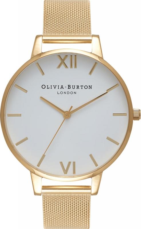Zlaté hodinky pro ženy Olivia Burton Big Dial OB15BD84